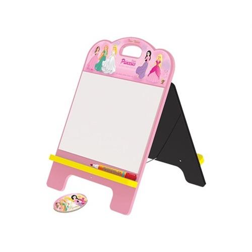 lousa quadro mural de recados 2 em 1 princesas infantil comp
