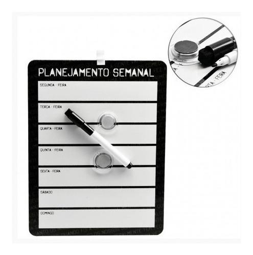 lousa quadro planejamento semanal magnetico kit completo