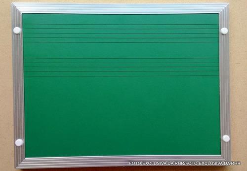 lousa verde 2 pentagramas p/ música - tamanho 2,00m x 1,20m