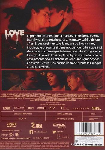 love amor gaspar noe pelicula nueva original dvd