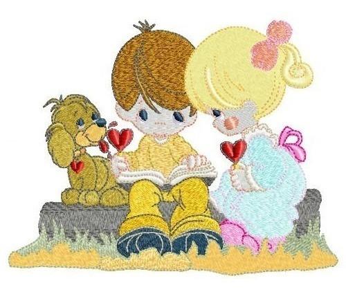 love is - coleção de matriz de bordado