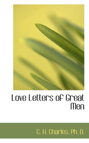 love letters of great men(libro )