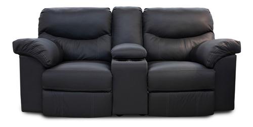 love seat con reclinables  de piel genuina  houston contado