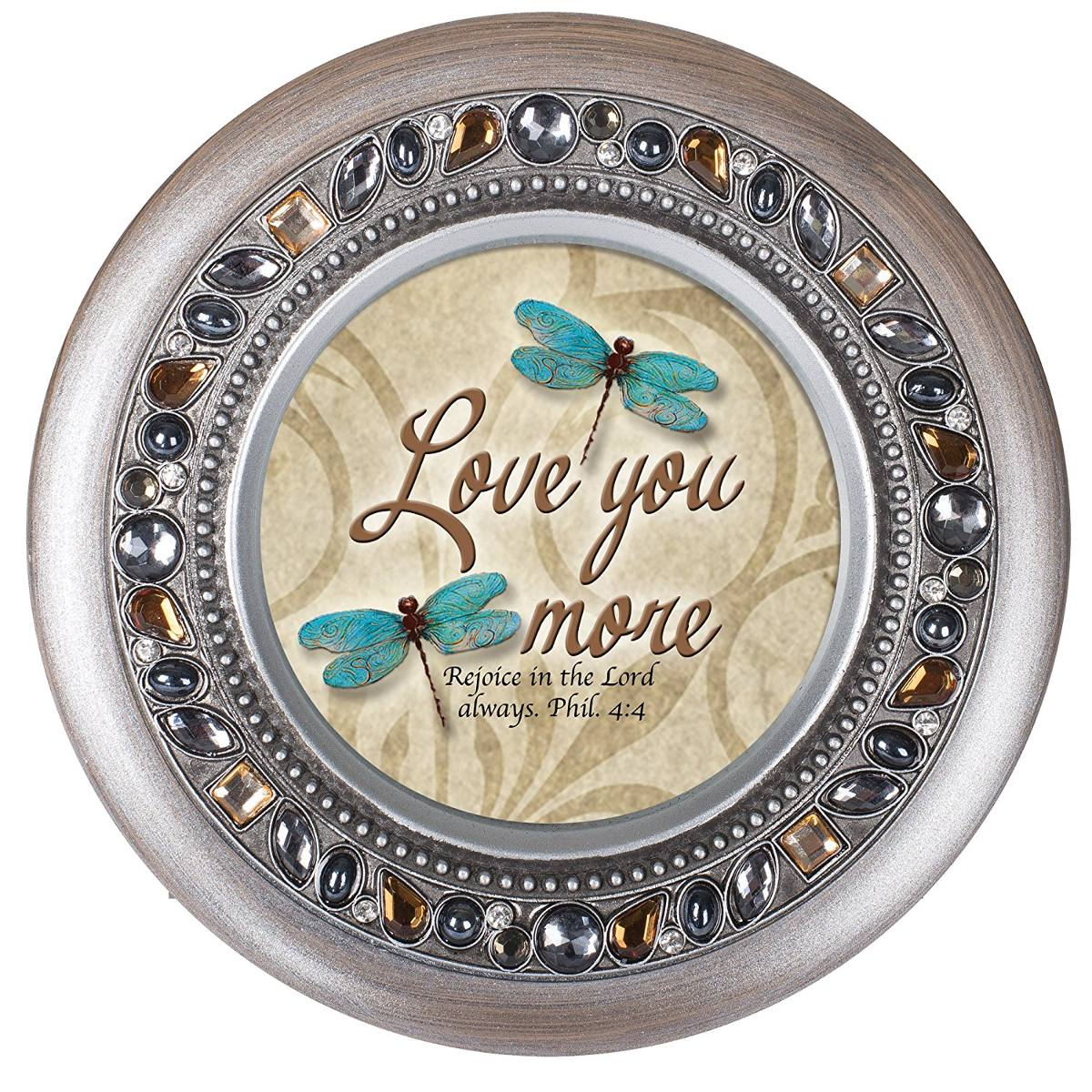 Love You More Lib Lula Filipenses 4 4 Jeweled Esta O Redond  # Muebles Filipenses