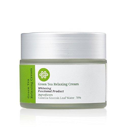 lovluv green tea relaxing whitening cream. tenga una piel f