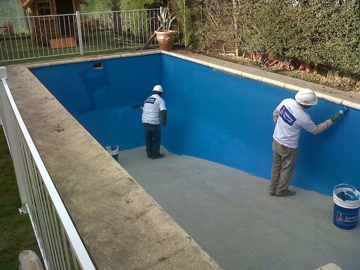 Loxon pintura para piscinas azul a base acuosa bs 150 for Pintura para piscinas