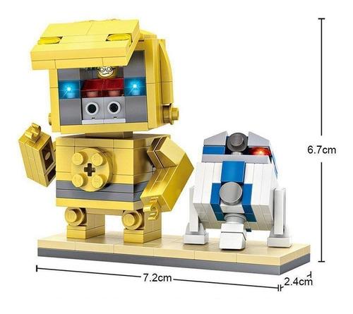 loz brickheadz star wars - c3p0 & r2d2