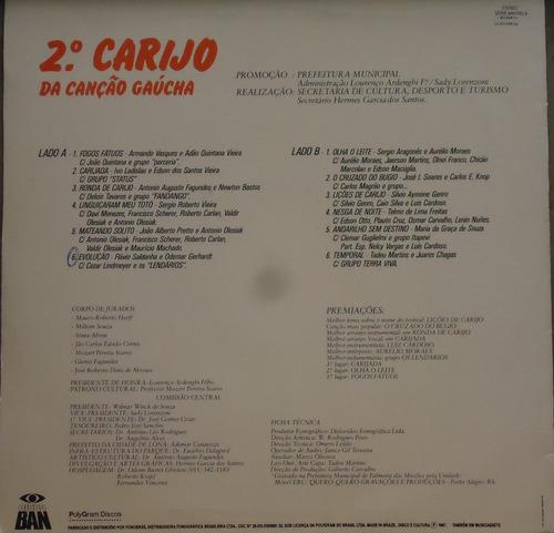lp (006) gaúcha - 2° carijo da canção gaúcha