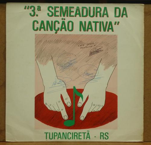 lp (034) vinil - gaúchos - 3ª semeadura da canção nativa