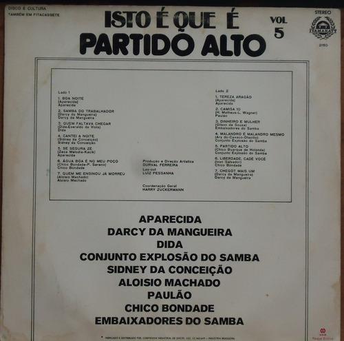 lp (038) samba - isto que é partido alto vol. 5