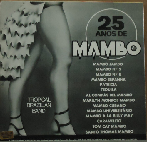 lp (051) coletâneas - 25 anos de mambo