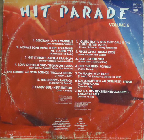 lp (060) coletâneas - hit parade vol. 6
