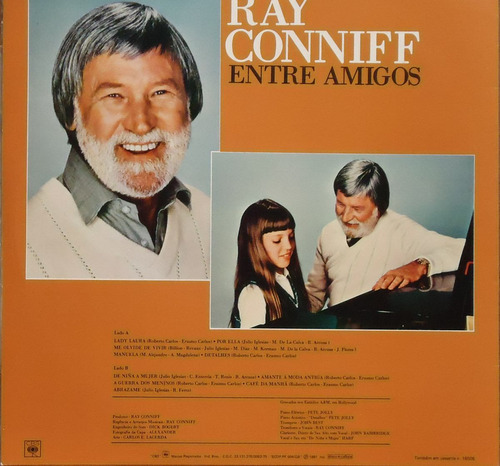 lp (072) - orquestras - ray conniff - entre amigos