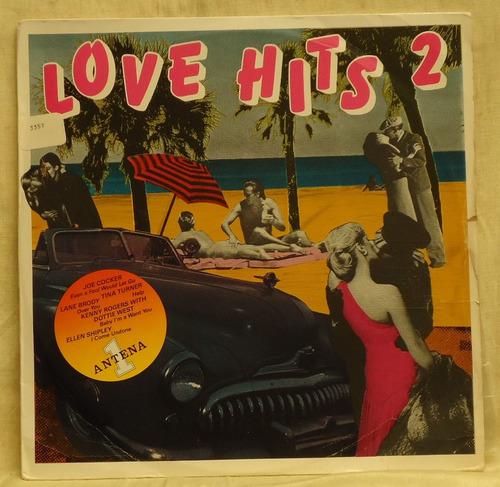 lp - (081) - coletâneas - love hits 2 - vários