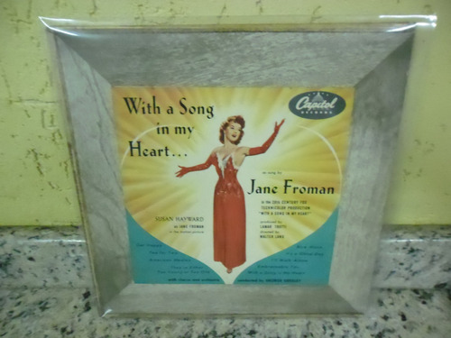 lp 10' capitol -  with a song in my hearth jane froman