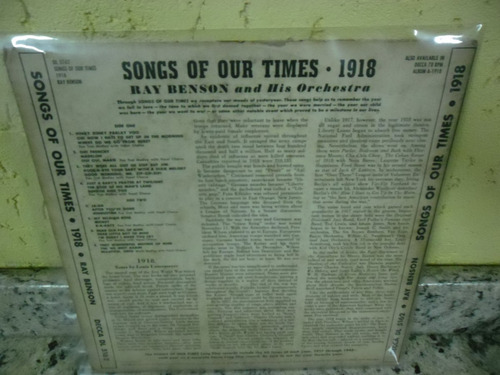 lp 10' decca song hits 1918  ray bendon e orchestra