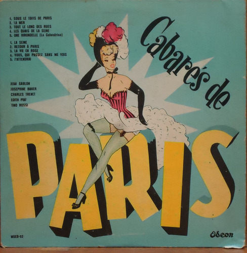 lp (1002) 10 pol. - cabarés de paris