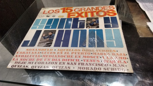 lp 15 grandes exitos de santo and johnny acetato,long play