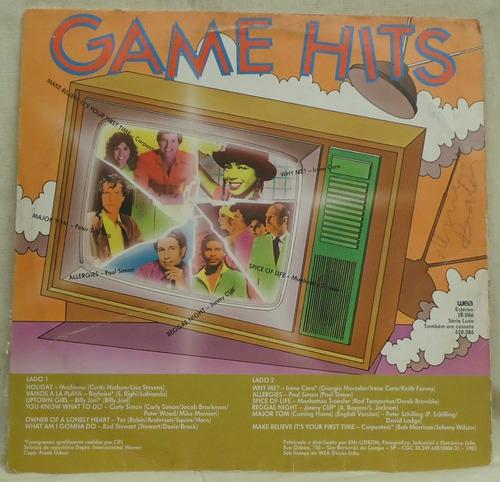 lp - (327) - coletâneas - game hits