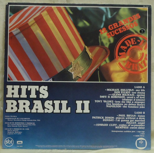 lp - (328) - coletâneas - hits brasil - vol. 2