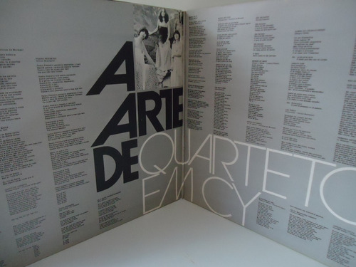 lp a arte do quarteto em cy- fontana- capa dupla- duplo