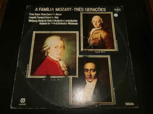 lp a família mozart - três gerações, vinil de 1985