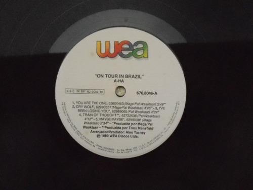 lp a-ha p/1989- om tour in brazil