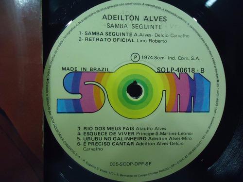 lp adeilton alves - samba seguinte- selo som- 1974