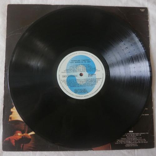 lp agnaldo timóteo 1983 alô, mamãe eu te amo, disco de vinil
