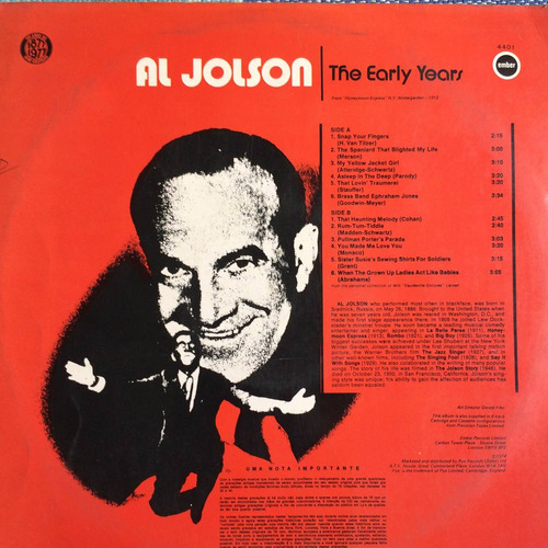 lp al jolson ( the early years )