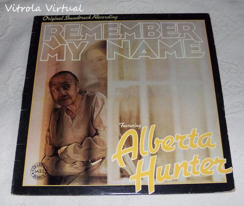 lp alberta hunter remember my name discos cbs 1978 nacional