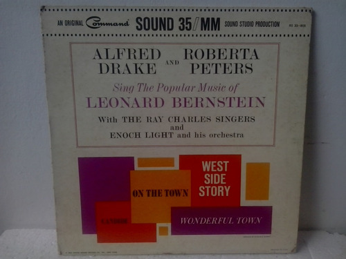 lp alfred drake and roberta peters the pop. mus. of leonard