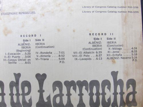 lp: alicia de larrocha - albeniz: iberia, navarra imp duplo