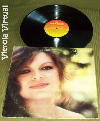lp amelinha mulher nova, bonita e carinhosa... selo cbs 1982