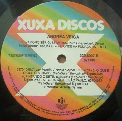 lp andréa veiga - ama amazonia - 1990 - xuxa discos