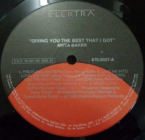 lp-anita baker(giving you the best that i got)1988=elektra