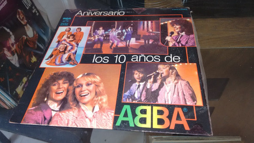 lp aniversario los 10 años de abba en acetato,long play