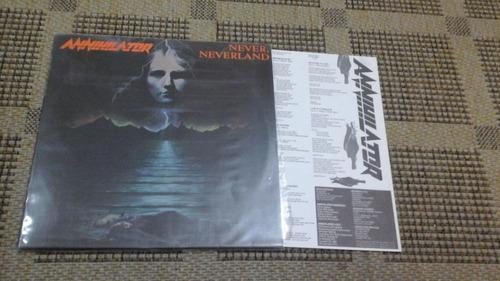 lp-annihilator-never, neverland - com encarte