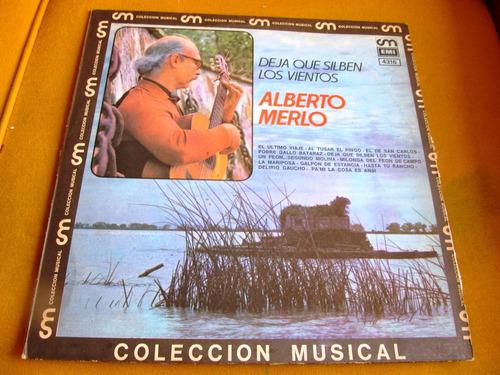 lp argentina rey folclore alberto merlo deja silven vientos