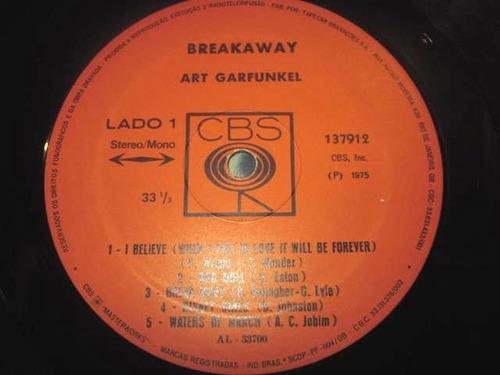 lp art garfunkel - breakway (1975) c/ paul simon + encarte