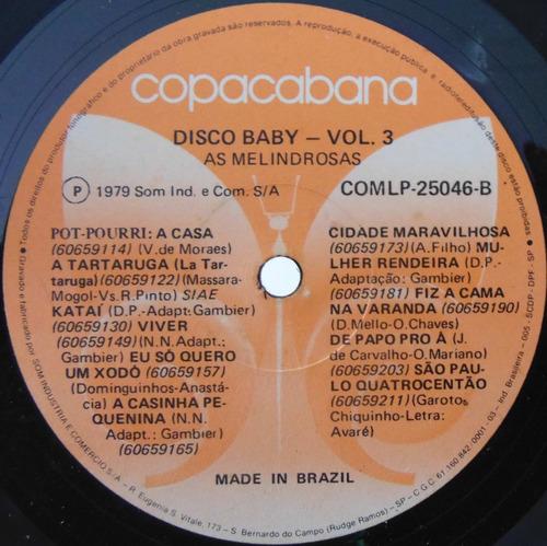 lp as melindrosas  - disco baby vol 3 - copacabana