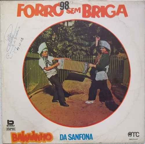 lp baianinho da sanfona (1972) selo original amc