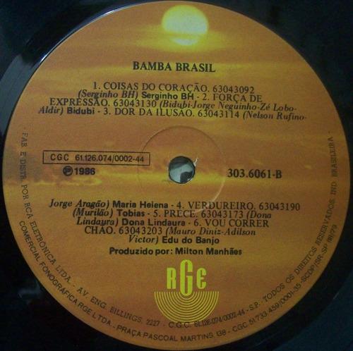 lp bamba brasil - 1988 - rge