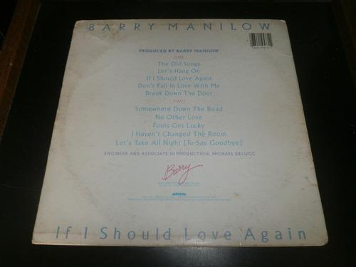 lp barry manilow - if i should love again, c/ encarte, 1981