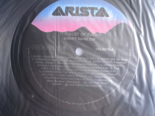 lp barry manilow the best of barry