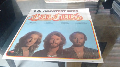 lp bee gees 16 greatest hits en formato acetato,long play