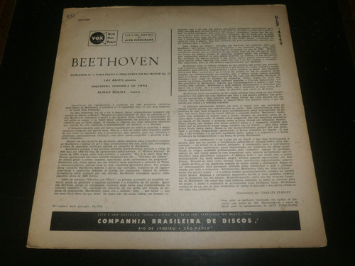 lp beethoven, concerto nº3, lili kraus, rudolf moralt, vinil