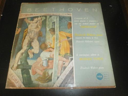 lp beethoven - concerto nº5 - imperador, disco vinil
