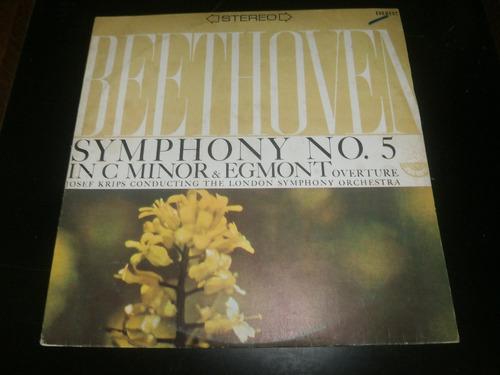 lp beethoven - symphony nº5, in c minor & egmont overture