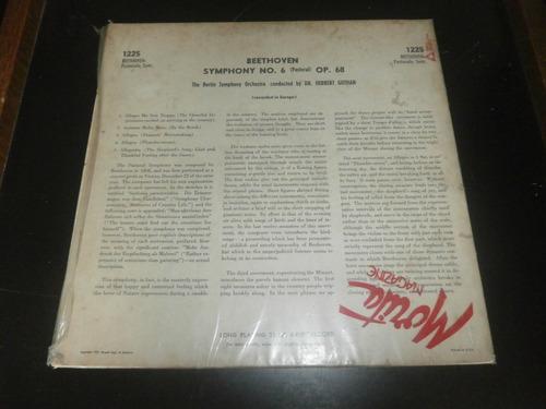 lp beethoven - symphony nº6 op.68 (pastoral), disco vinil